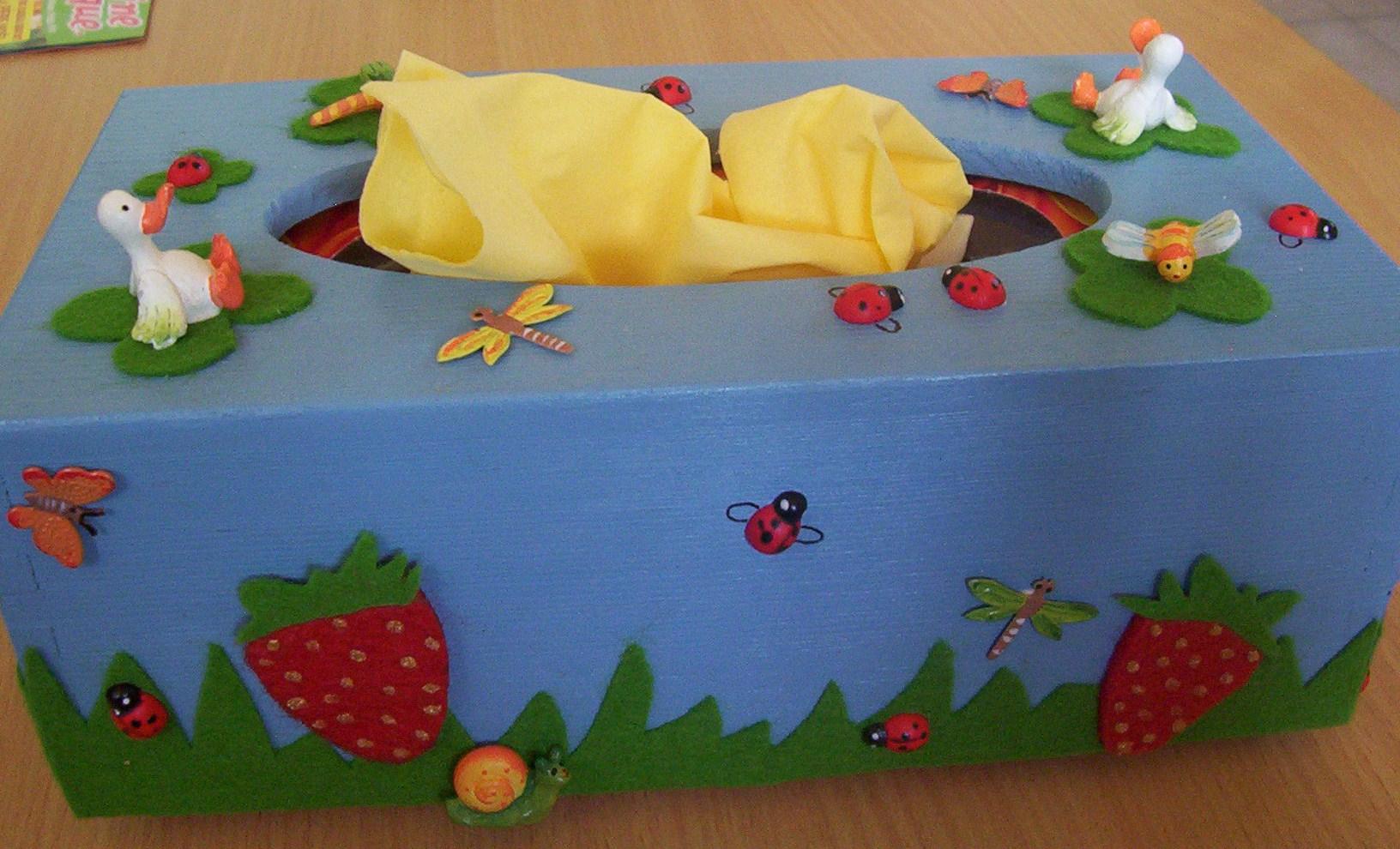 Boite mouchoir la marre aux canard for Decorer une boite a mouchoirs en bois